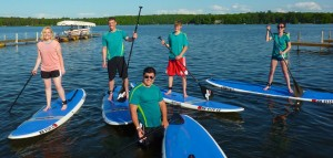 Joleen, Sami, Nick, Logan, Henri and Sabrina learning how to paddleboard